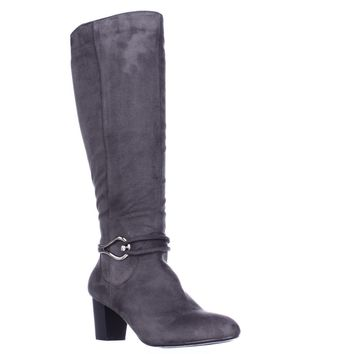 KS35 Gaffar Knee High Dress Boots, Grey, 8 US