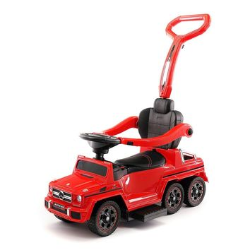 MERCEDES G63 AMG 6X6 CHILDREN ELECTRIC RIDE ON CONVERTIBLE PUSH AND FOOT TO FLOOR CAR   RED