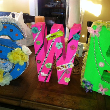 Customized Styrofoam free standing Letters 8 inches to 10 inches tall