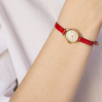 Micro watch, women's watch, small lady watch Seagull, rare model lady's watch, tiny watch, premium leather strap red new