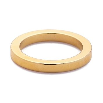 Gold 2.5 MM Flat Ring