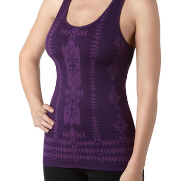 Seamless Racerback Performance Tank With Jacquard Design