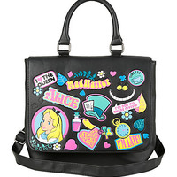 Disney Alice In Wonderland Sticker Icons Saddle Bag