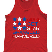 Let's Get Star Spangled Hammered Tank Top