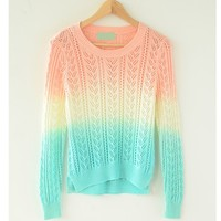 Cute Gradient Colorful Sweater