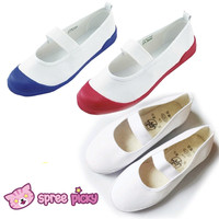 White|Blue|Red J-fashion Cosplay School Uniform Flat Gym Shoes SP151628