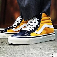 VANS SK8 HI 2018 new high-top men and women couples casual shoes F-CQ-YDX Yellow