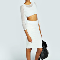 Ellie Crop Top & Midi Skirt Co-Ord Set