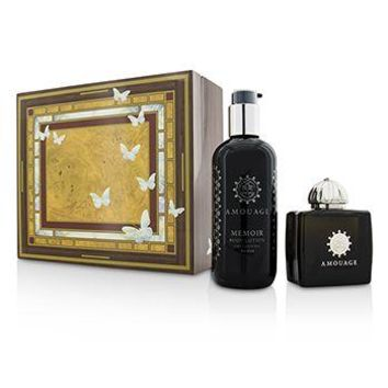 Amouage Memoir Coffret: Eau De Parfum Spray 100ml/3.4oz+ Body Lotion 300ml/10oz Ladies Fragrance