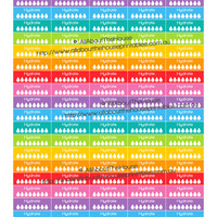 "Hydrate Printable Calendar Planner Stickers Water Intake Tracjer 1.5"" wide x 0.5"" Rainbow 2015 Planner Accessory Erin Condren ECLP ect."