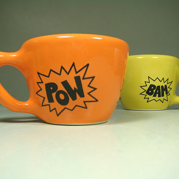 12oz cup POW (creamsicle) - Made to Order / Pick Your Colour