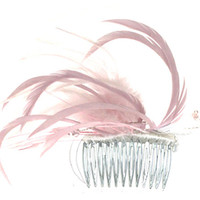 Wedding Hair Comb, Feather Hair Comb, Bridal Headdress, Headdresses For Weddings,Decorative Hair Comb, Tiaras & Crown