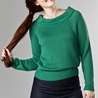 emmydesign - the Bardot boatneck. green