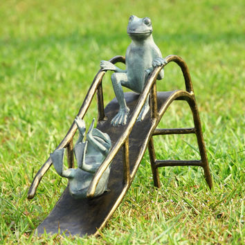 SPI Garden Collection Sliding Frogs Garden Sculpture