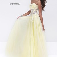 Sherri Hill 11135 Sheer Corset Prom Dress