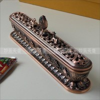 Antique Metal Tibetan Incense Holder