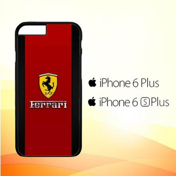 Ferrari Logo Red Carbon L1959 iPhone 6 Plus|6S Plus Case
