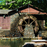 Classic New England Waterwheel..Waterwheel Wall Art and Home Decor by Trish Helsel Photography