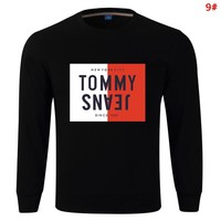Tommy Fashion New Bust Letter Print Women Men Long Sleeve Sweater 9#
