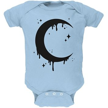 Halloween Dripping Crescent Moon Soft Baby One Piece