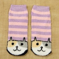 Ankle Socks: Purple Cat - $3.99 : Spotted Moth, Chic and sweet clothing and accessories for women