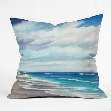 Rosie Brown Beach 1 Throw Pillow