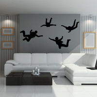 Vinyl Wall Decal Sticker Sky Diving #OS_MB779