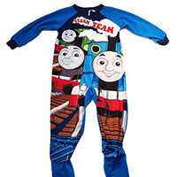 Character Boys Blanket Footed Sleeper Pajama Set (3T, Thomas The Train)