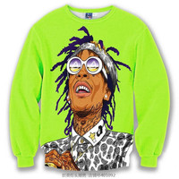 Wiz Khalifa All Over Print Crew Neck Sweatshirt