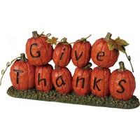 Give Thanks Pumpkin Thanksgiving Decor