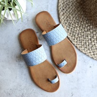 coconuts by matisse - freddie slip on sandal - dusty blue
