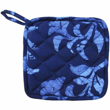 Pot Holder - Blue Hanging Ferns - Global Mamas (T)