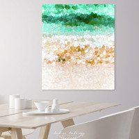 On the beach abstract painting by Andrea Anderegg Photography