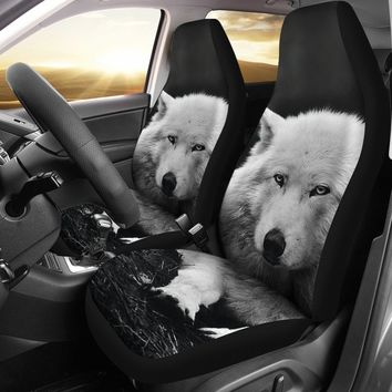 Custom Seat Covers Wolves Design