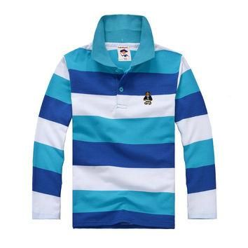 Top quality kids boy polo shirts school uniform shirt boys t shirt long sleeve cotton