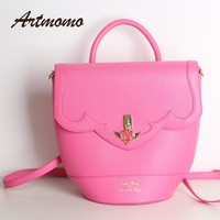 2017 new sailor moon luna / artemis hand bag samantha vega handbag box shoulder bag messenger bag student 3 kinds of use bag