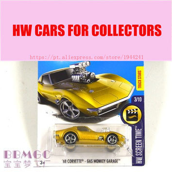 New Arrivals 2017 Hot 1:64 Car wheels 68 CORVETTE-GAS MONKEY GARAGE Metal Diecast Cars Collection Kids Toys Vehicle For Children