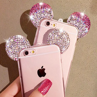 Diamond Minnie Ears iPhone 6 Case - Pink or White