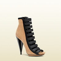 GUCCI - olimpia suede open-toe bootie 347556CGYY01082