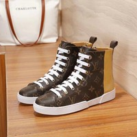 Louis Vuitton Women Fashion Casual Punk Boots Shoes
