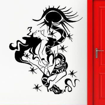 Wall Stickers Vinyl Decal Abstract Modern Decor Sexy Gothic Girl Unique Gift (ig1829)