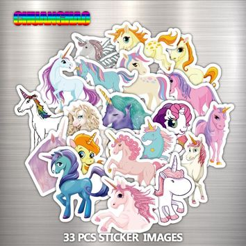 Unicorn Toy Kids Stickers for Portable