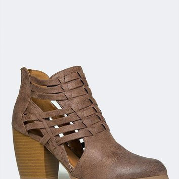 STRAPPY CUTOUT BOOTIE