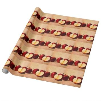 Three Apples And A Half Wrapping Paper
