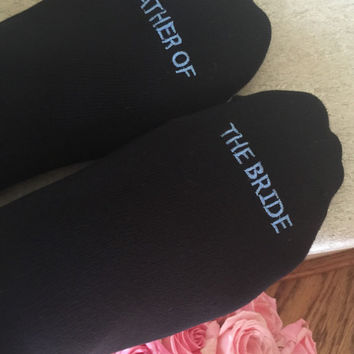 Copy of Father of the Bride socks FATHER OF THE BRIDE best wedding gift