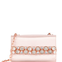Gem clutch leather bag - Nude Pink | Bags | Ted Baker UK