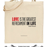 Organic Eco Cotton Tote Bag The Greatest by ThingsThatSing
