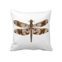Dragonfly on both sides throw pillow