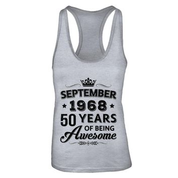 September 1968 50Th Birthday Gift Vintage Being Awesome
