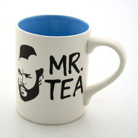 Mr T Mug Tea Cup Featuring Mr T Turquoise Blue by LennyMud on Etsy